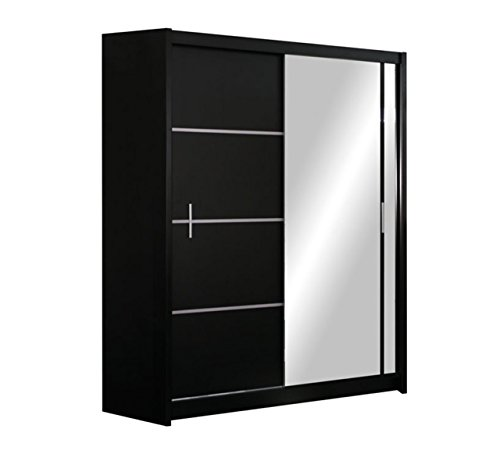 Mirjan24  Kleiderschrank Rapid, Schwebetürenschrank mit Spiegel, Schiebetür, Elegantes Schlafzimmerschrank, Schlafzimmer, Jugendzimmer...