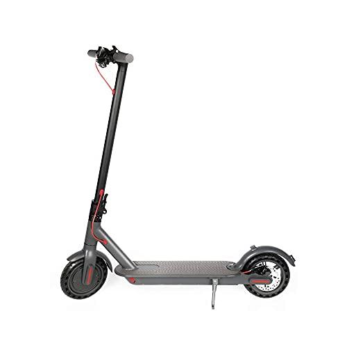QYTS E-Scooter Eléctrico Ruedas De 8.5 Pulgadas, Batería De Litio De 36 V hasta 35 Millas por Carga Ligero Y Plegable para Adultos Y Adolescentes