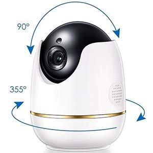 Überwachungskamera, IP, WLAN, Smarthome Kamera: Für den Innenbereich (Indoor) geeignet. Intelligent, 360° HD, Bewegungserkennung und Nachtsicht. App integriert mit Datenverschlüsselung!