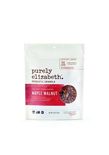 Purely Elizabeth Probiotic Granola, Certified Gluten-Free, Organic & Vegan   Probiotic-Infused Healthy Snack   Nutrient-Packed - Maple Walnut - 8oz