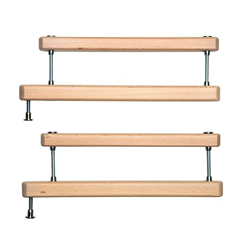 Geuther 2725ZK+ Zusatzklemmen Set für Treppenschutzgitter, Türschutzgitter, Türgitter (einfache Montage, Babygitter ohne Bohren, hergestellt in Deutschland, langlebige Qualität), Natur