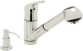 Ambassador Marine Universal Collection Pull-Out Galley Faucet with Soap Dispenser
