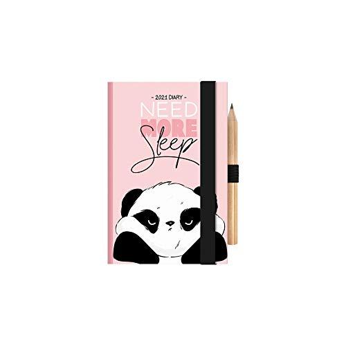 Legami - Agenda Bigiornaliera, 12 Mesi, 2021, Mini, Motivi: Panda