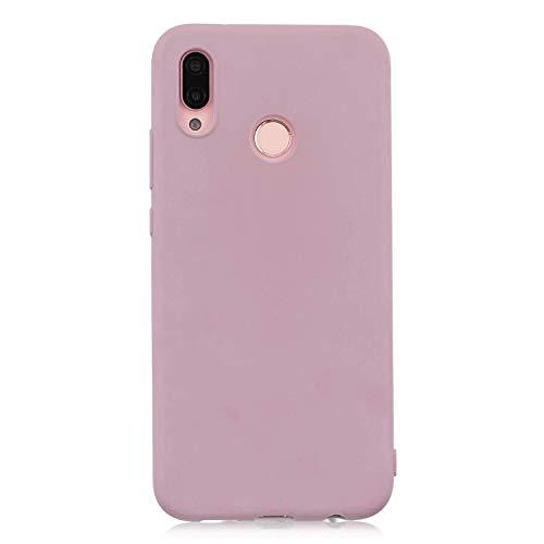 cuzz Funda para Huawei P20 Lite+{Protector de Pantalla de Vidrio Templado} Carcasa Silicona Suave Gel Rasguño y Resistente Teléfono Móvil Cover-Rosa