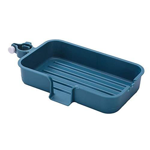 TONGDAUR Thuis Kraan Racks keuken vaatwassers Sponge Drain Holder Sink Rag Opslag Shelf (Color : Deep Blue, Size : Free)