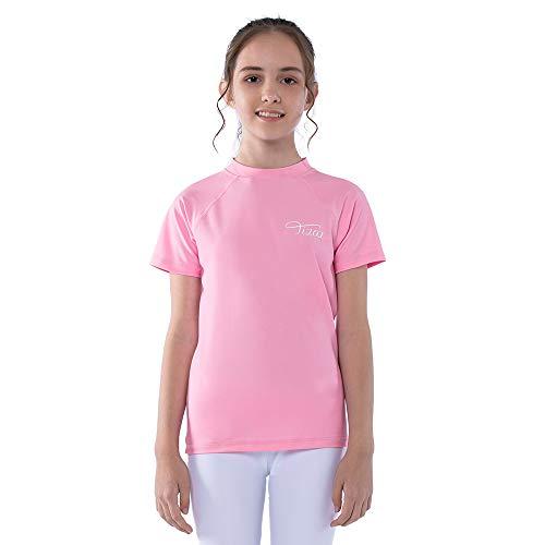 TIZAX Camiseta Natación con UPF50+ Protección Solar para niñas Traje de baño de Manga...