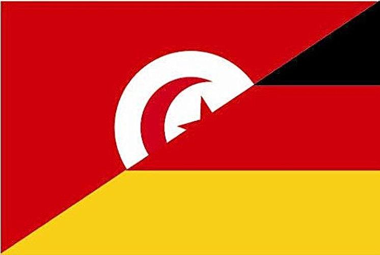 Haute Qualité pour U24Drapeau de l'Allemagne Drapeau Tunisie de Bateau Drapeau 120x 180cm