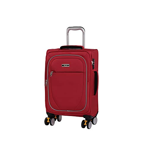it luggage Lockdown 8 Wheel Lightweight Semi Expander Suitcase Cabin with TSA lock Valigia, 57 cm, 45 liters, Rosso (Red)