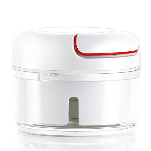 Foodprocessor-Foodprocessors best Beoordeeld Gember Knoflookmolen Handmatige Voedselhakker - Mini Handtrekker Keukenmachine Knoflookpers Vleesmolen Groentemolen Voor Vleesnoten Peper BPA Vrij/Duurza