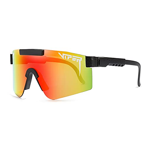 Gafas de Sol Pit Viper Gafas de Sol Polarizadas Ciclismo Gafas de Sol Hombres Mujeres Gafas a Prueba de Viento Al Aire Libre Gafas de Conducción Anti UV,D