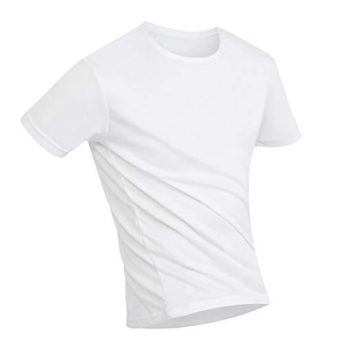 JYRD Short Sleeve T-Shirt Manga Corta Tops Cuello Redondo Versión Delgada Alta Elasticidad Color Sólido Antiincrustante A Nanoescala - Patrones Personalizables (Color : D, Size : M)