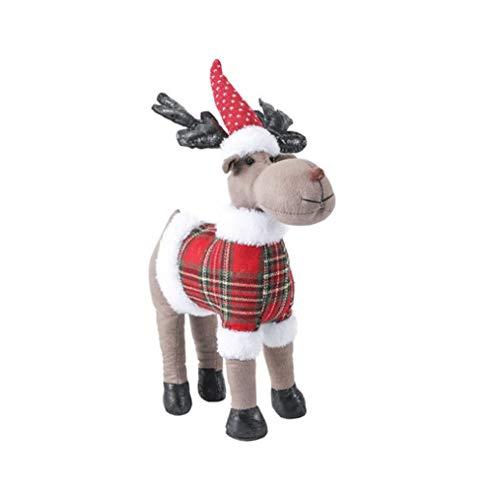 BTLK Christmas Elk Doll Giocattoli Piccoli Giocattoli Di Cervi Di Peluche Bambole Di Renna Decorazioni Giocattolo Giocattoli Di Peluche Morbidi Regali Di Natale