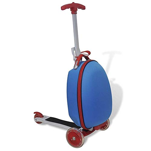 Autoshoppingcenter Mini Scooter Suitcase Children Travel Suitcase 50 Kg Load Capacity Kids Scooter with Children's Luggage Kid's Toys for Boys Girls Birthday Present [UK STOCK]