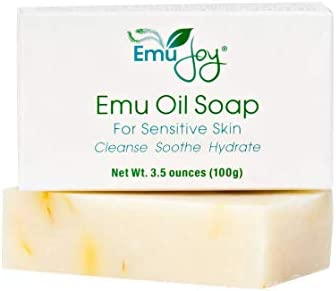 Emu Oil Soap Bar for Sensitive Skin All Natural Moisturizing Emu Soap for Eczema Psoriasis Dermatitis product image