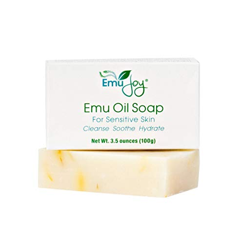 Emu Oil Soap Bar for Sensitive Skin - All Natural Moisturizing Emu...