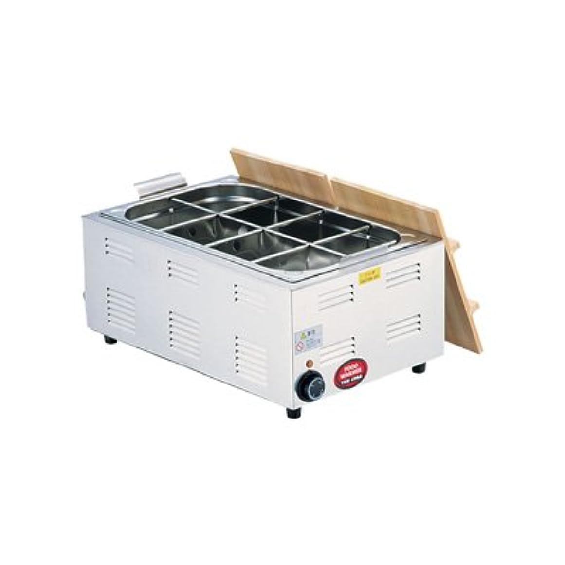 グラマー鉱石フィッティングTKG 湯煎式 電気おでん鍋 6ッ切 572×366×H230mm