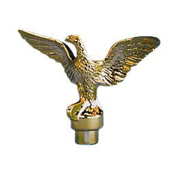 Eagle Top Ornament Plastic Brass Plate For A 3/4 Inch diameter pole by Eder Flag