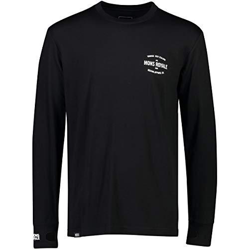 Mons Royale Yotei Tech Ls T-Shirt À Manches Longues, Noir (Black 001), Small Homme