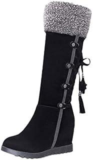KemeKiss Women Vintage Wedge Heels Boots