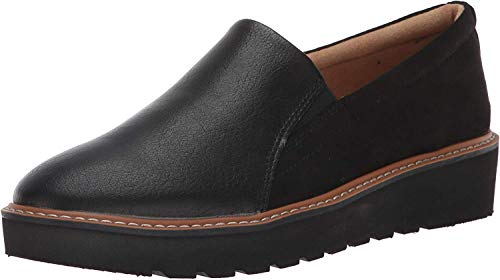 Naturalizer Women's Effie Loafer, Black Fabric/Smooth, 9