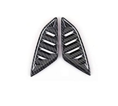 furong 2pc de Fibra de Carbono Color ABS Ap ABS Aire Acondicionado Tablero de Instrumentos de ventilación Ajuste para MAZDA3 AXELA 2014-2018 Impresión de Transferencia de Agua