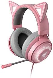 Razer Kraken Kitty Gaming Headset The Cat Ear Headset with RGB Chroma Lighting Microphone with product image