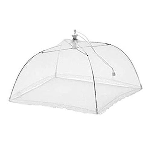 HehiFRlark Cubierta de Mesa de Comedor Universal de Malla Lavable Plegable Cuadrada Blanca Cubierta de Mesa de Comedor Blanco