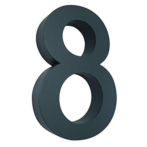 8 Hausnummer 3D anthrazit RAL7016 Edelstahl V2A rostfrei wetterfest Höhe 20cm inkl. Montagematerial erhältlich 0 1 2 3 4 5 6 7 8 9 a b c d