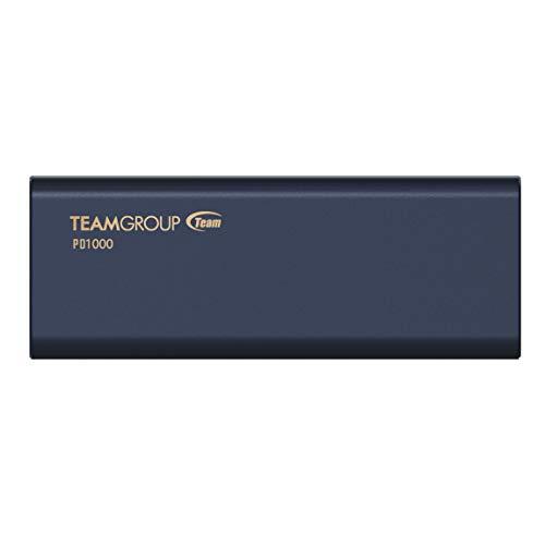 TEAMGROUP PD400 960GB Aluminum Portable External Solid State Drive SSD Storage Waterproof, Dustproof (IP66), Shockproof, Pressure Resistant - USB-C, USB 3.1 Gen 1 (T8FED4960G0C108)