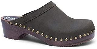Sandgrens Swedish Low Heel Wooden Clog Mules for Women | Athens