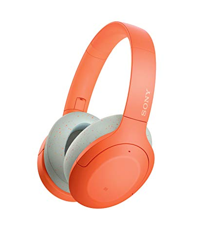 Sony Wh-H910 Wireless Noise Cancelling Headphones, 35 Hours Battery Life with Quick Charge, Hi-Res Audio, Touch Control, Compatible with Alexa - Orange