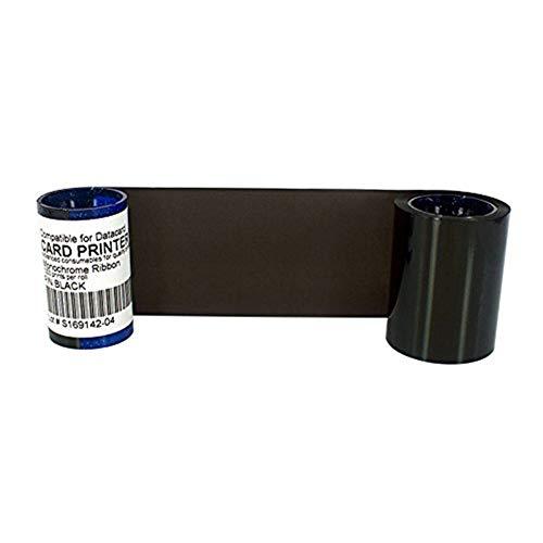 DC285W Farbband für Datacard SP35 SP35 Plus SP55 SP55 Plus SP75 SP75 Plus Kartendrucker DC285K, Schwarzes Farbband 1000 Bilder