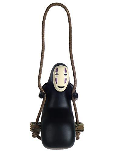 Ohngesicht Mini Figur auf Schaukel | Kaonashi Deko aus Resin für Chihiro Fans