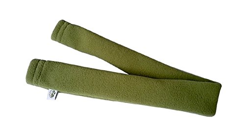 Eco-Pup Dog Harness Strap Cover - Padding to Prevent rubbing, Made of Recycled Polyester Fleece, Large/18 Long, Green