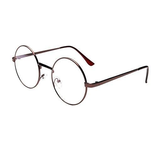 Gafas de Sol Redondas Vintage, Zolimx Gafas Redondas de Espejo de Metal Clásico Unisex | Polarizadas | Deportivas | Grandes | Ancho: 5.0 cm