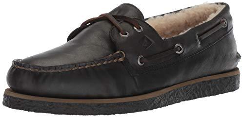 Sperry Men's Authentic Original Winter Boat Shoe, Black Cozy, 10.5 M US