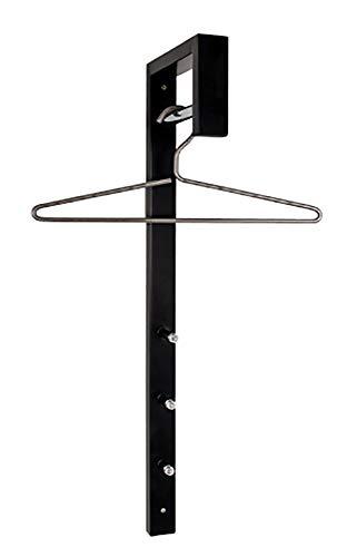 Haku Möbel Wandgarderobe - Stahlrohr schwarz lackiert 3 Haken Höhe 70 cm