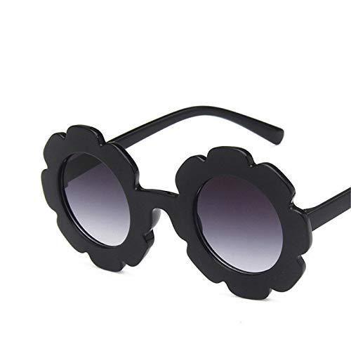 N/A Gafas de Sol Vintage para niños Gafas de Sol para niños Flor Redonda Bebé NiñosDeporte Gafas de Sol Lindas con Flor de Sol Regalo de cumpleaños