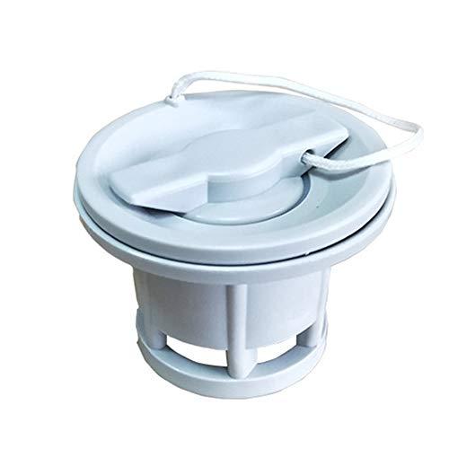 HINMAY aufblasbares Schraubventil, langlebiges Schraub-Luftventil, Ersatz für Intex Boote/Jilong Boote, Decath Ventil, aufblasbares Pool-Boot, Spirale Luftstecker Luftbett, grau, 6 Boat air Valve