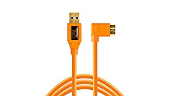 Tether Tools TetherPro USB 3.0 to Micro-B Right Angle Cable 15   4.6m  High-Visibility Orange