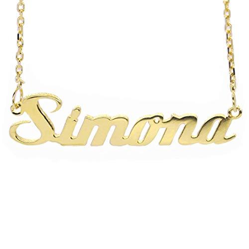 MyOwnName Dein Name als Halskette ~ Namenskette aus 585er Gold