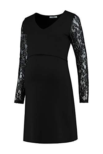 Love2Wait omdömen omständigheter mode graviditetskläder dam dress ponte spets omvårdnad-svart