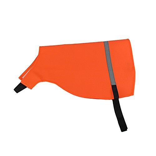 TOURBON Warnweste für Hunde, hohe Sichtbarkeit, Orange