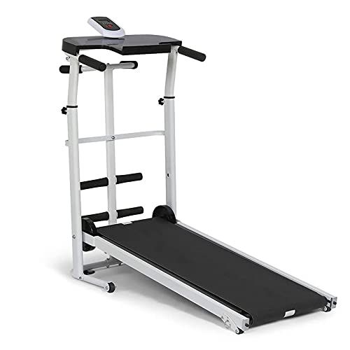 Afang Adjustable Incline Treadmill, Home Mechanical Labor Foldable Running Machine, Low Noise Portable Treadmill LCD Display Running Treadmill