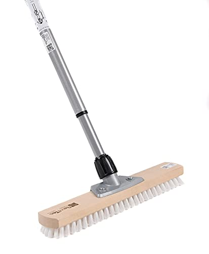 BawiTec großraumschrubber avec manche 40 cm-manche télescopique balai pPN blanc