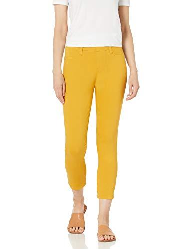 Amazon Essentials Pull-On Knit Capri Jegging Pantalones, Oro, L Largo