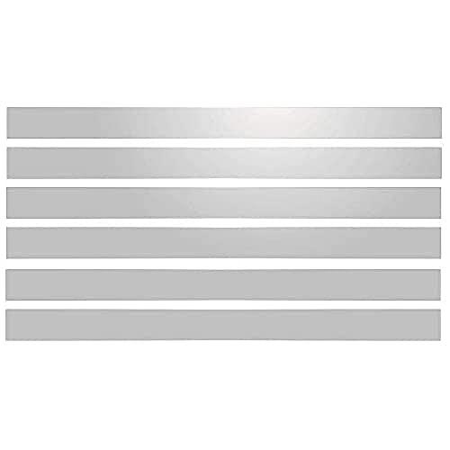 6 Bandes Adhésives Réfléchissantes pour Signalisation 28x2 cm Blanc Réfléchissant