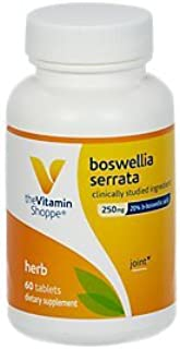 The Vitamin Shoppe Boswellia Serrata 250MG Standardized Extract, Clinically Studied Ingredient, Cardiovascular Joint Healt...