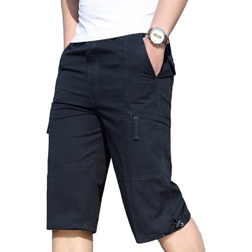 Pantalones Cortos de Carga de Color sólido para Hombre, Moda, tamaño Grande, Tendencia cómoda, Todo fósforo, Senderismo al Aire Libre, Ocio, Ejercicio, Pantalones Cortos Deportivos 3XL