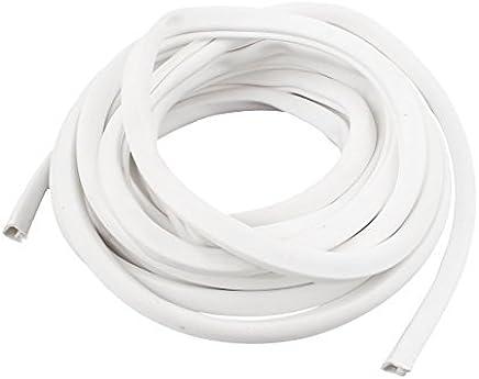 eDealMax PVC cóncavo conversado escritura en espacio en Blanco Flexible Marcadores de Cable etiquetas Blancas 15M